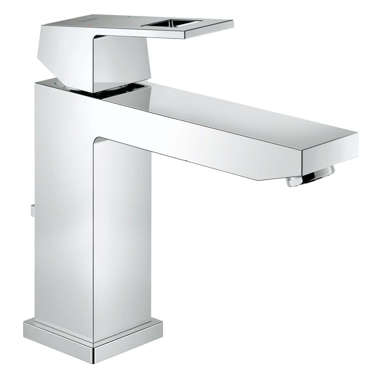 Grohe 23670000 Eurocube 1 2 Gpm Deck Mounted Build Com Bathroom Faucets Sink Faucets Bathroom Sink Faucets Single Hole [ 1200 x 1200 Pixel ]