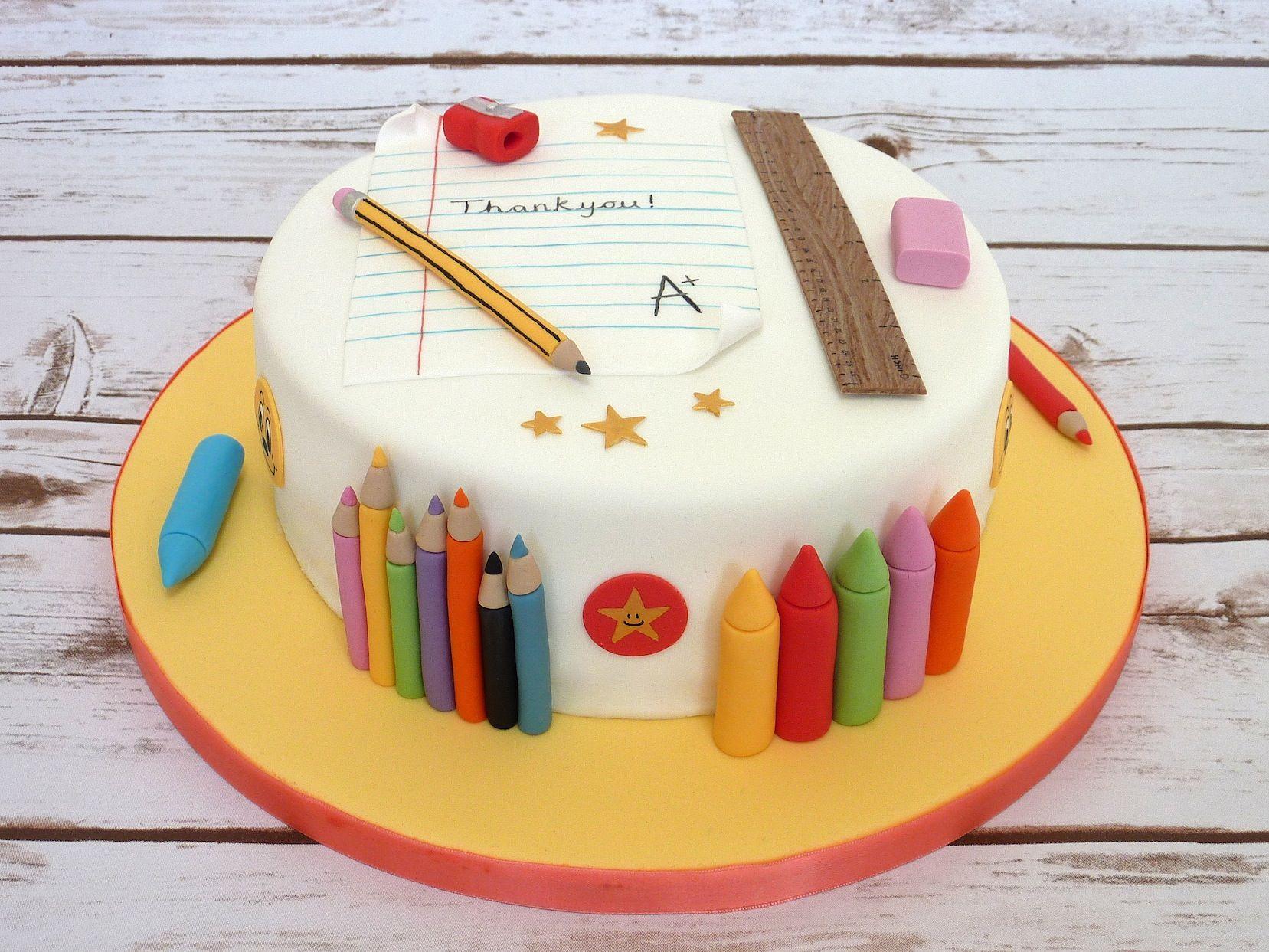 Thank You Teacher Cake Www Heysugarcakes Co Uk With Images