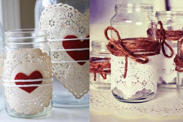 Vemos Diferentes Formas De Decorar Con Tarros De Cristal Solo Necesitamos Un Poco De Pintura Cinta Decorati Botes De Conservas Tarros De Cristal Manualidades