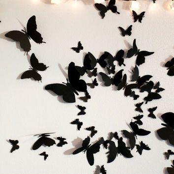 50 3D Butterfly Wall Art Cir... from LeeShay on Wanelo