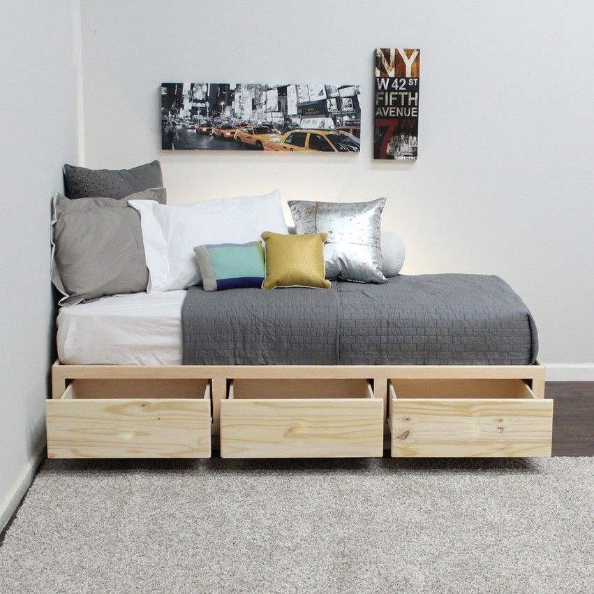 twin captains bed 3 drawers pine wood twin captains on innovative ideas for useful beds with storages how to declutter your bedroom id=33637