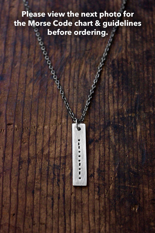 Morse code necklace secret message necklace or bracelet metal