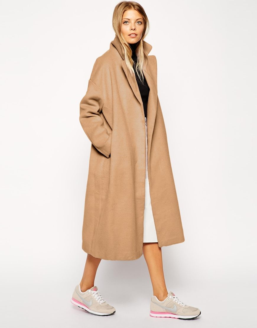 ASOS Camel Coat in Relaxed Oversized Fit  MBFWWishlist   MB FASHION ... f1caa6c9cd57