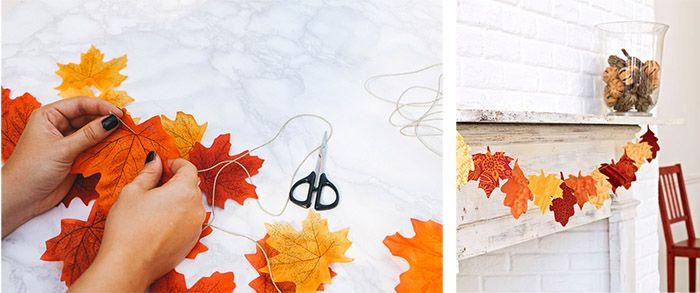 7 ideas para hacer con hojas este otoño   Decoración otoño ...