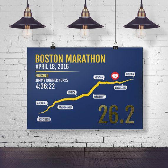 Boston Marathon Print - Personalized and Customized for 2016