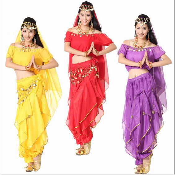 6a05cc1480cc2 5 pcs costume danse du ventre costume bollywood indien de robe robe danse  orientale danse du ventre costume des femmes jupe ensembles. tribales. 6  couleur