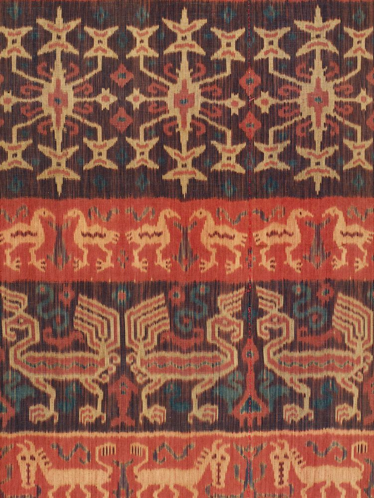 Hinggi Man's Wrap, detail.  East Sumba, Indonesia