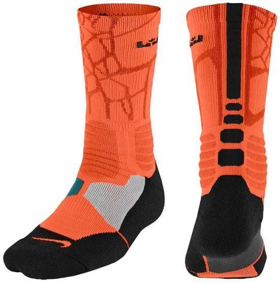 Nike Hyper Elite Basketball LEBRON JAMES Crew Socks - MEN\u0027s Size LARGE 8-12  #