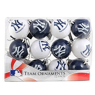 forever collectibles new york yankees 12 pack plastic ball christmas ornaments