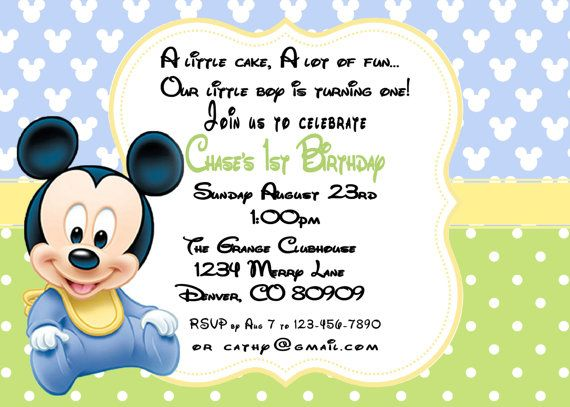 Printable PDF MIckey Mouse Birthday 1st By ASweetCelebration