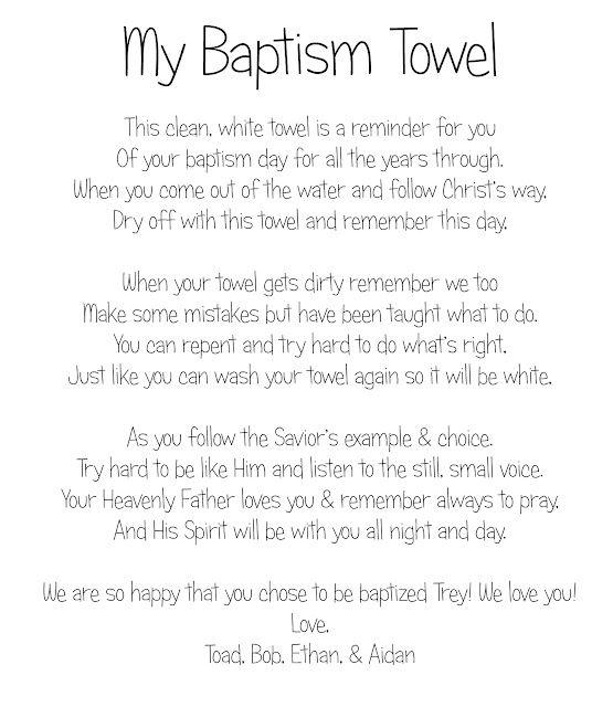 baptism towel poem | BAPTISM | Pinterest | Bautismo, Sacramento y ...