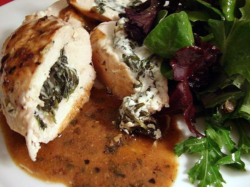 Divine Goat Cheese and Spinach Stuffed Chicken Breast