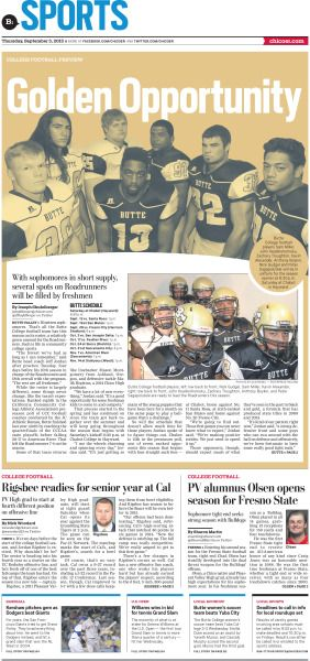 Golden Opportunity College Football preview #Layout
