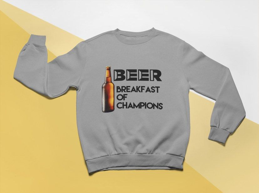 Beer breakfast of champions short sleeve t shirt or
