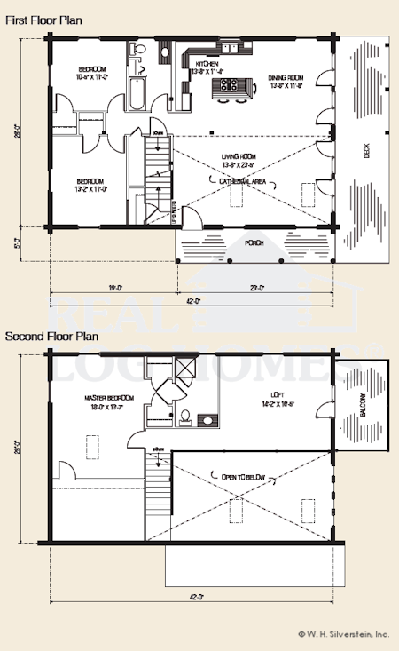 The Catskill, Log Home Floor Plans NH, Custom Log Homes | Gooch Real ...