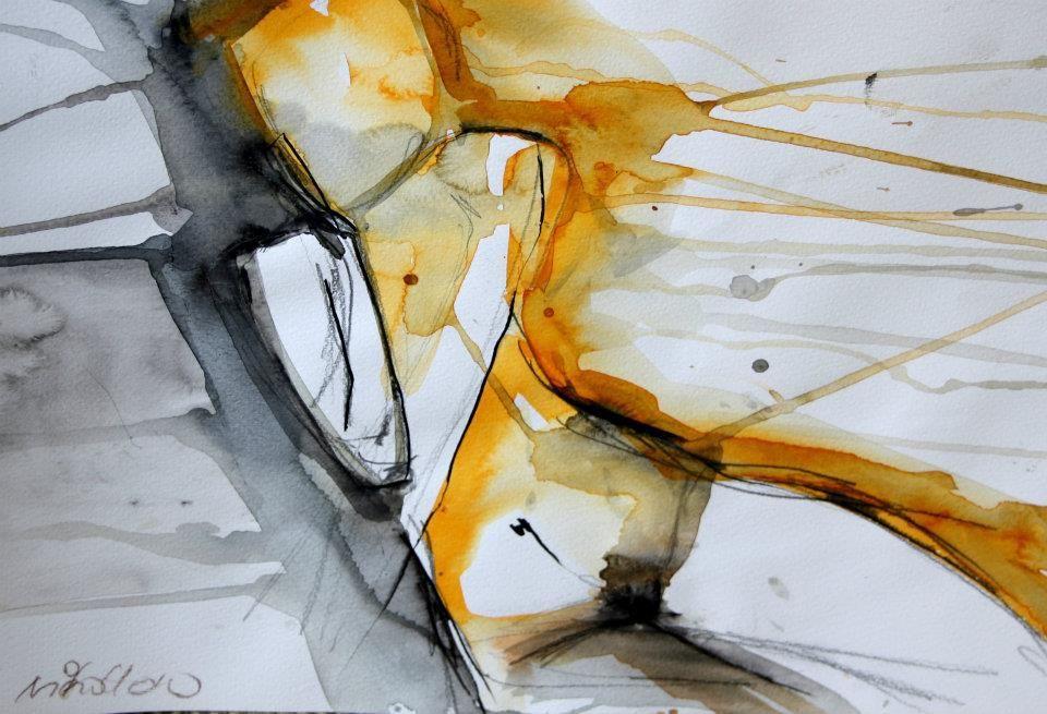 Schnelle Akte Auf Papier Abstrakte Aktmalerei Conny Niehoff Malerei