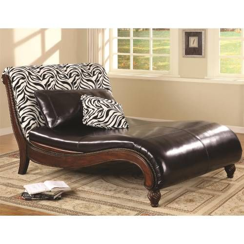 Zebra Animal Print Chaise Lounge