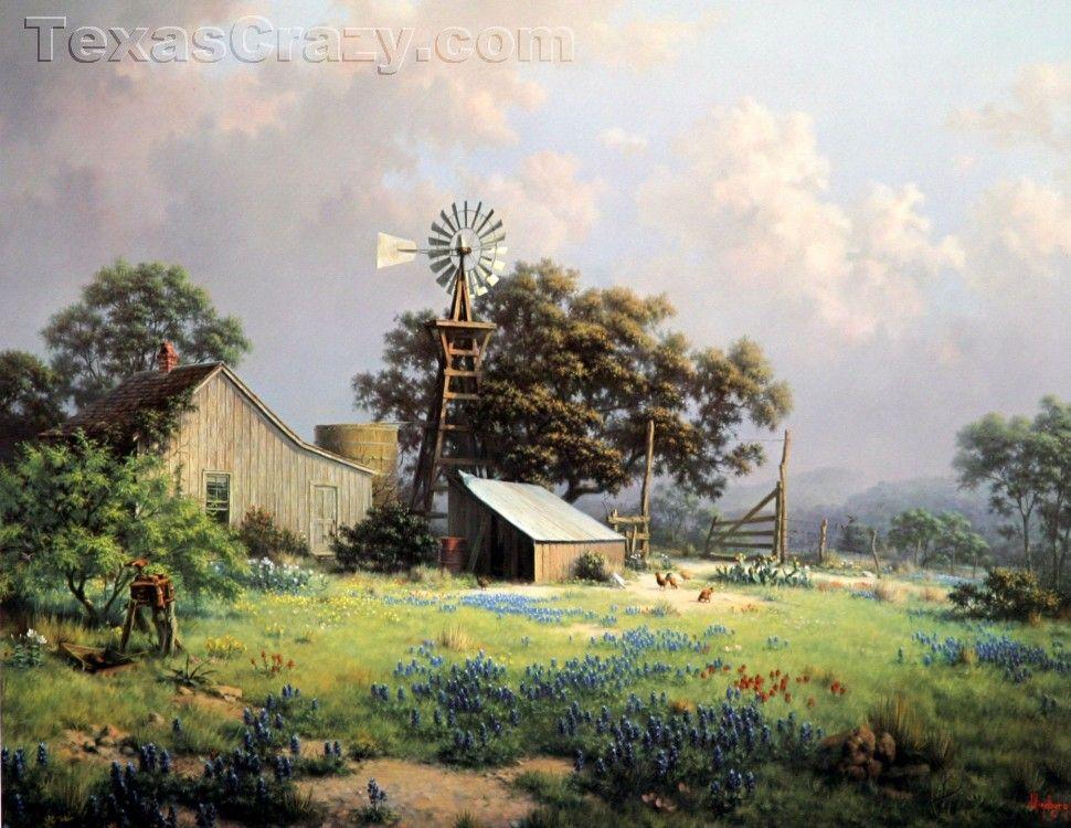 Memorable Springtide Landscape Print   Texana Decor ...