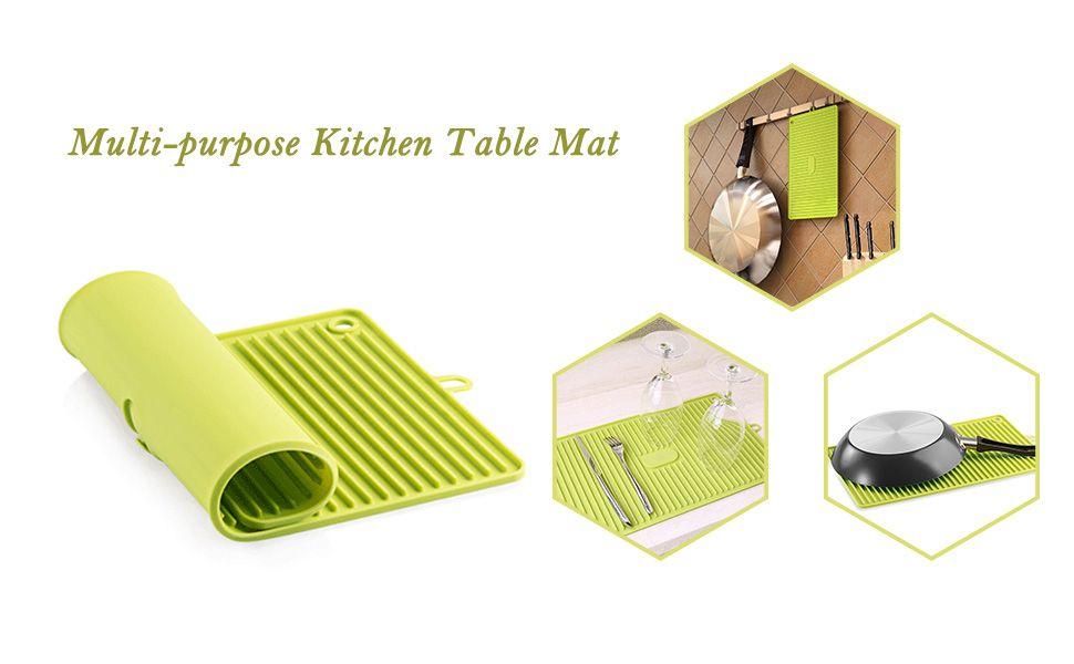 Amazon Com Luxear Dish Drying Mat Multi Purpose Silicone Draining