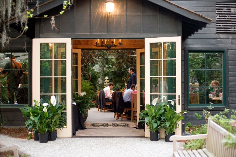 Carriage House and Lawn Pond wedding, Conservatory