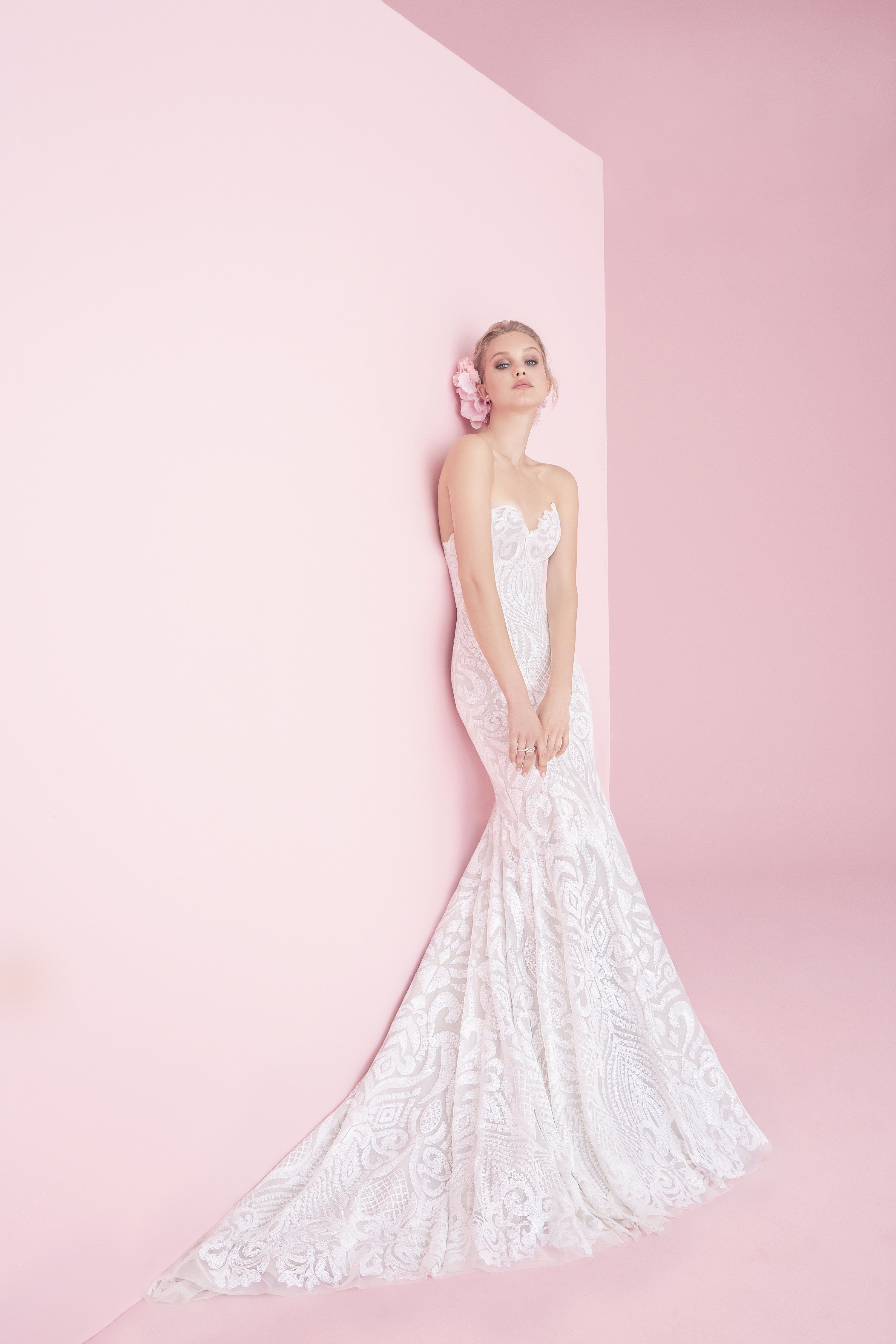 Safyr blush by hayley paige blush collection whimsical wedding