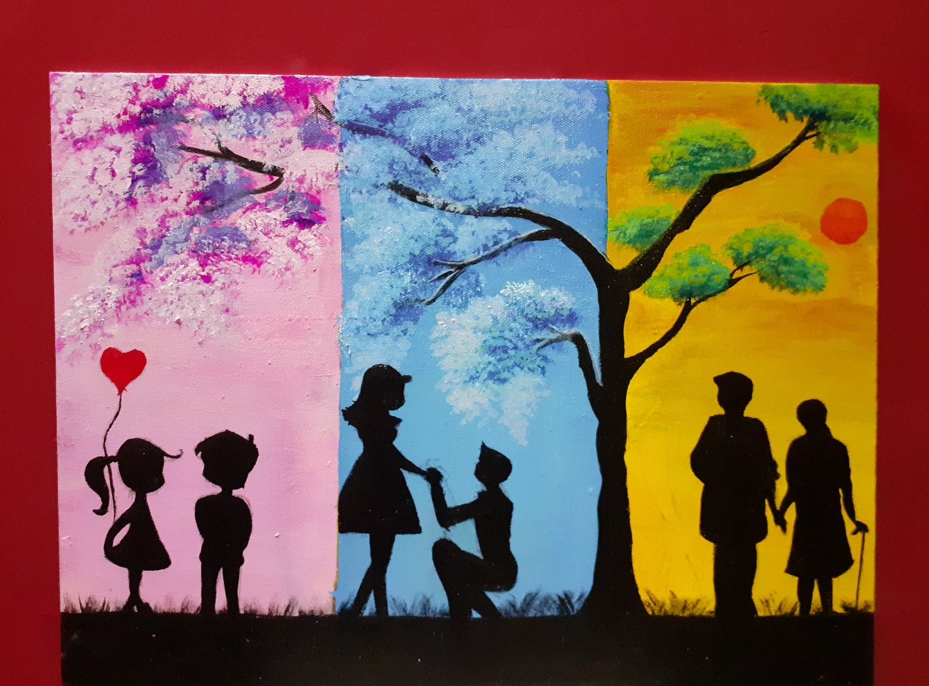 Love Forever In 2020 Abstract Canvas Painting Acrylics Canvas Art Painting Simple Canvas Paintings
