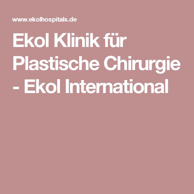 Ekol Klinik für Plastische Chirurgie - Ekol International