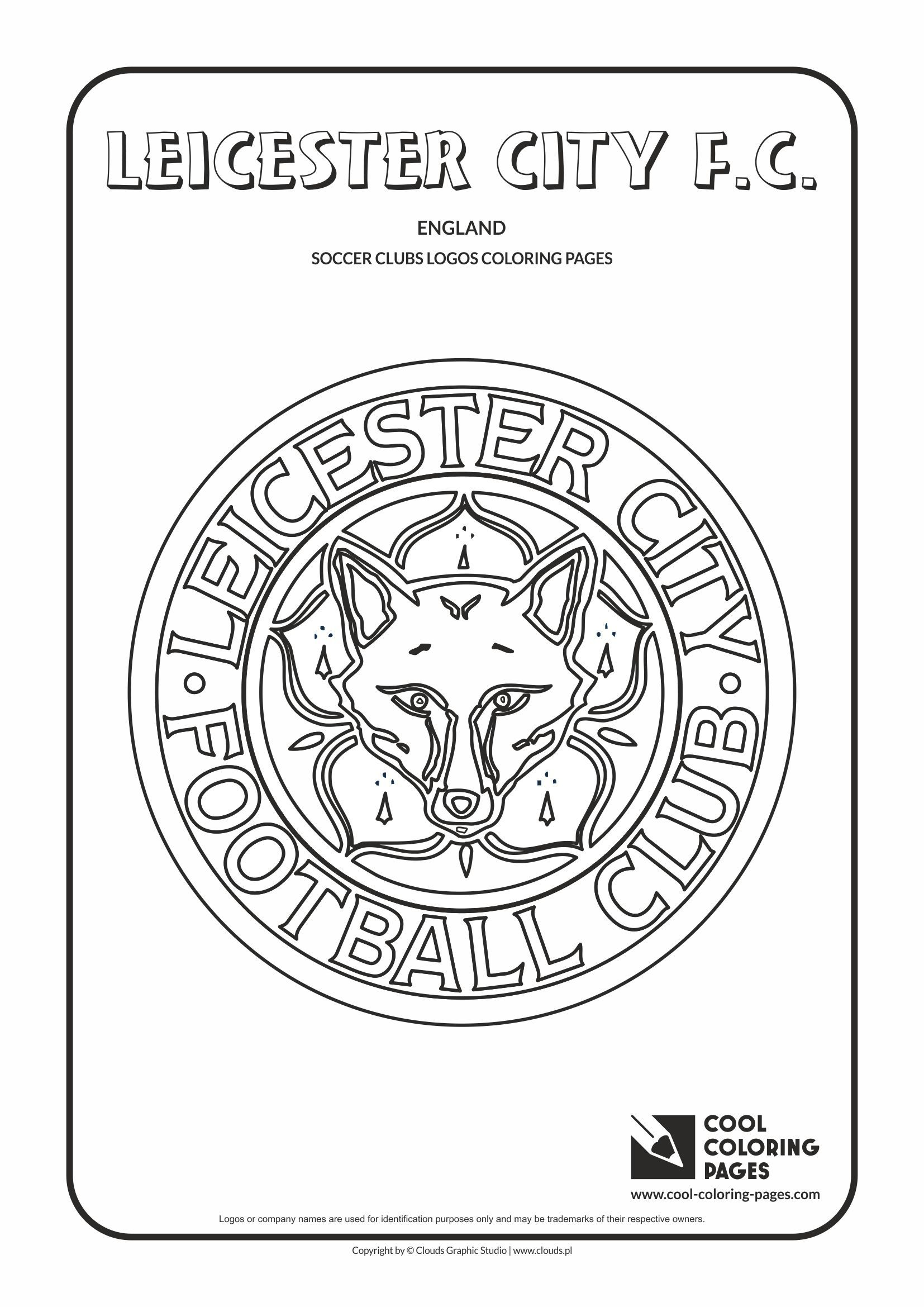 Leicester City F C Logo Coloring Coloring Page With Leicester City F C Logo Leicester Ci Cool Coloring Pages Coloring Pages Free Printable Coloring Pages