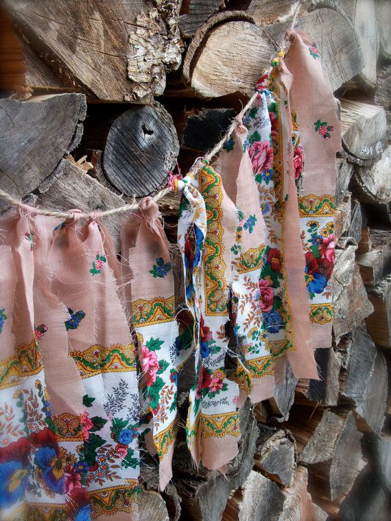 Hanging scraps of fabric is a great way to add color to your party's landscape.