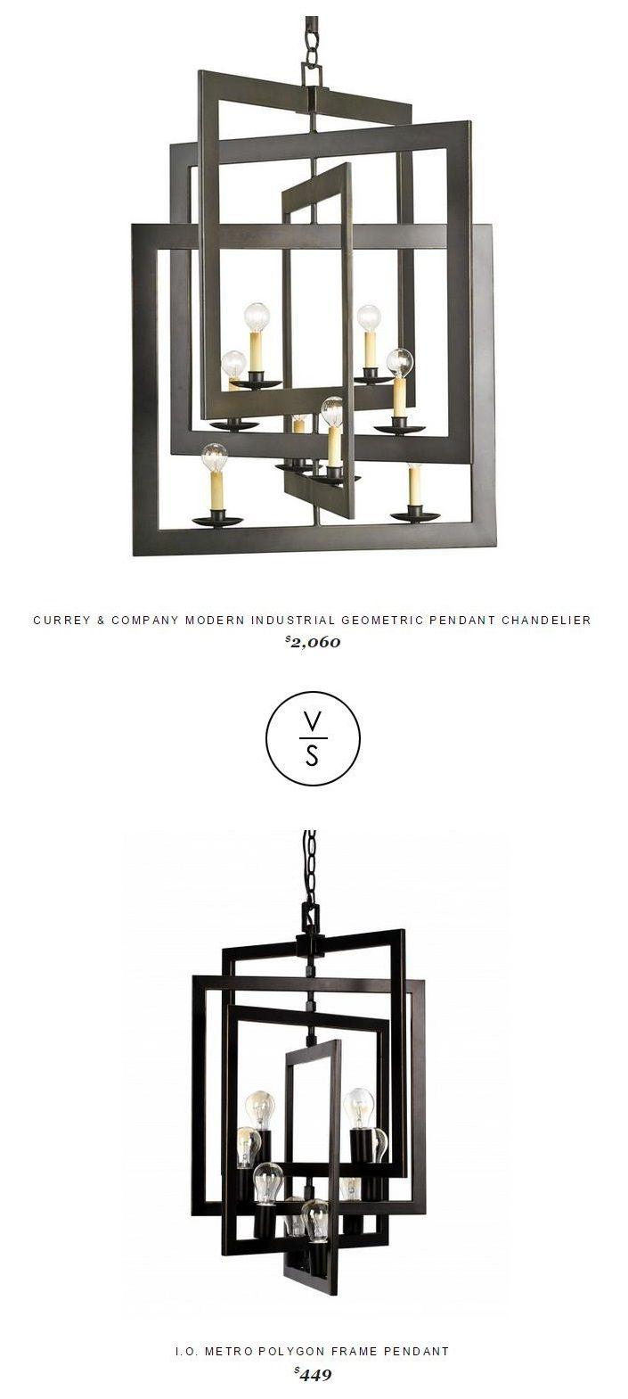 Currey Company Modern Industrial Geometric Pendant Chandelier