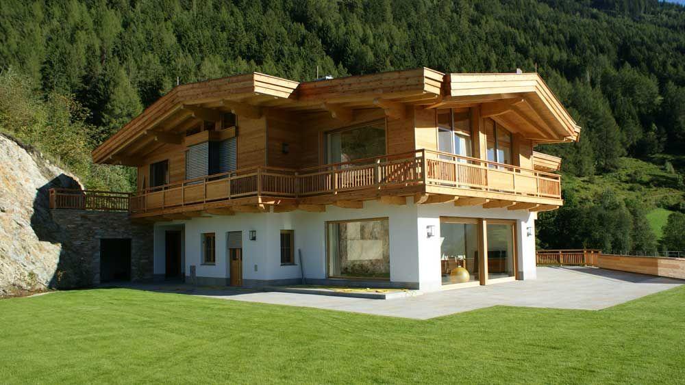 Zimmerei tirol balkonbau tiroler holzhaus silz h user for Holzchalet bauen