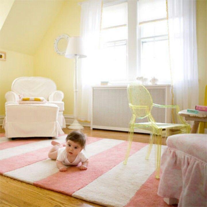 Love The Pale Yellow N Pink Yellow Baby Room Yellow Girls