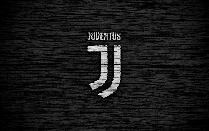 Download Wallpapers 4k Juventus Art Serie A Black Background