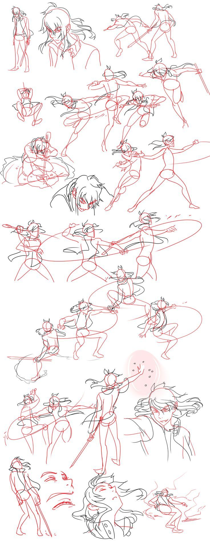 Fight Sketches by Flipfloppery.deviantart.com on @deviantART