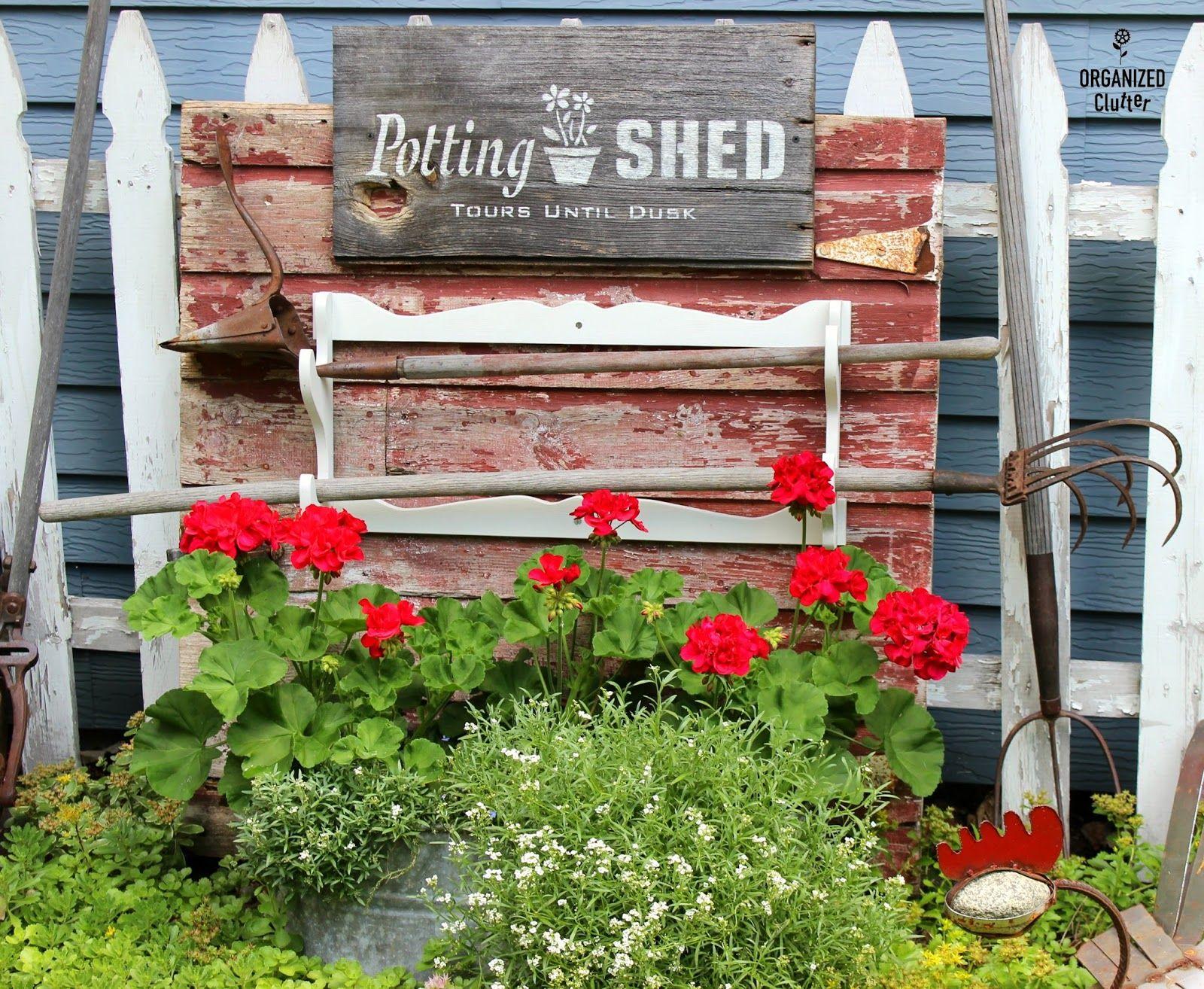 Junk Garden Tour 2016 organizedclutter.net   gardening   Pinterest ...