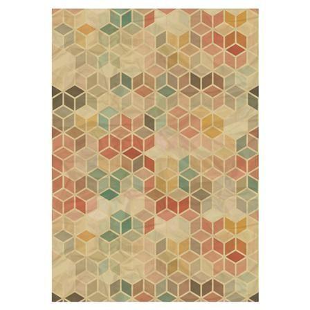 floorart tapis en vinyle 66 x 180 cm cubes vintage. Black Bedroom Furniture Sets. Home Design Ideas