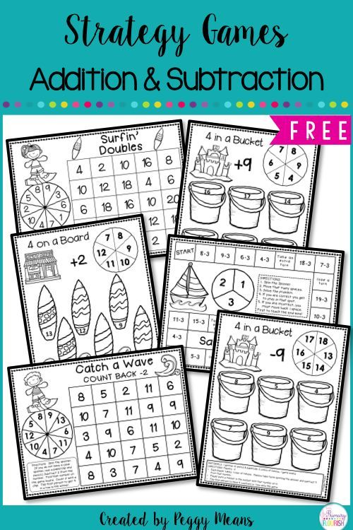 Addition & Subtraction Games | Math facts, Maths and Creative teaching