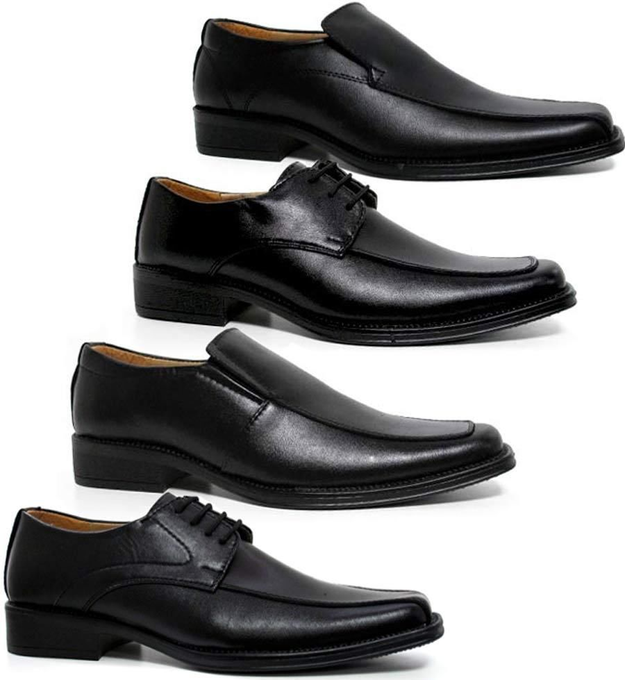 Mens Leather Shoes Smart Wedding Italian New Formal Office Dress Boys Size