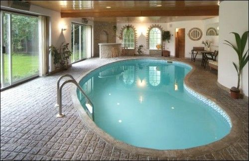 Home with Indoor Pool Pool / Spa / Hot Tub Pinterest