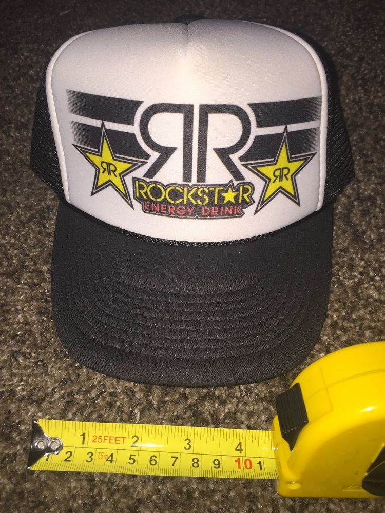 NEW Rockstar Energy Drink Trucker Hat Cap Adjustable Snapback- NEW!!!-R3   ROCKSTAR  Trucker 216a0496fbc