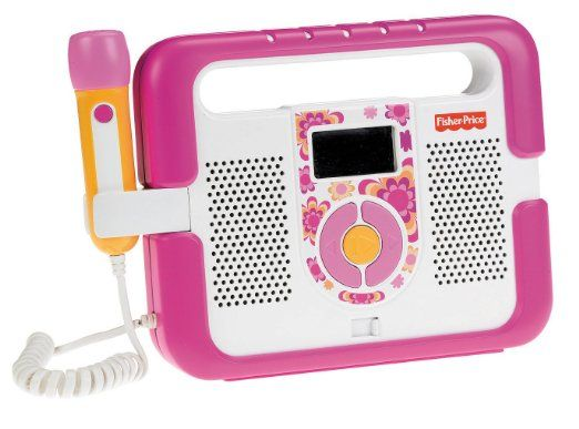 Amazon.com: Fisher-Price Kid-Tough Music Player with Microphone - Pink: Toys & Games