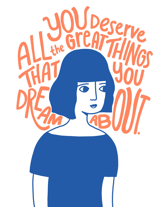 Dreams Keely Reyes Illustration Quotes Motivational Art Prints Portrait Illustration