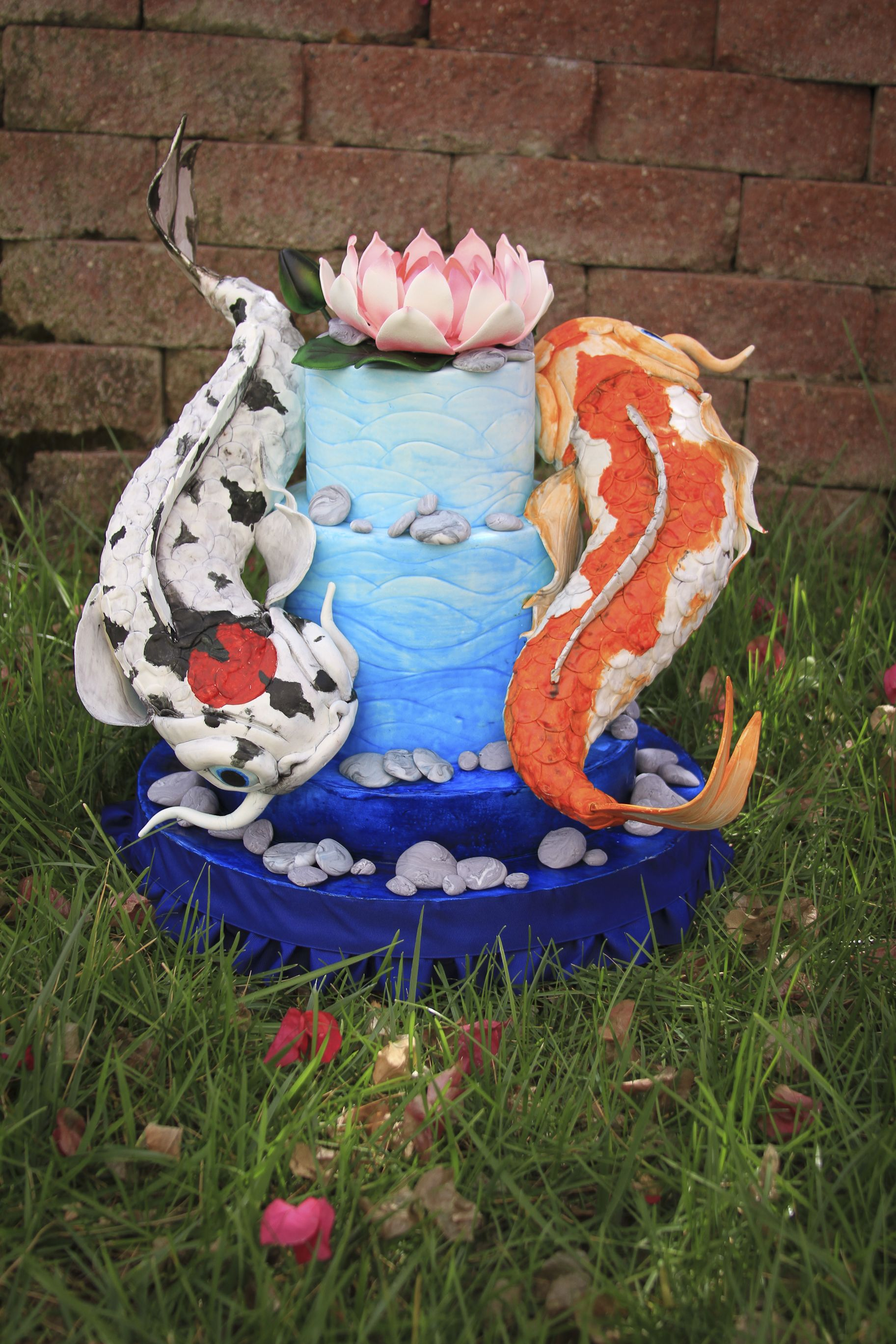 Cake Art Flower Moulding Paste : Koi Fish - the Koi fish are made of modeling chocolate and ...