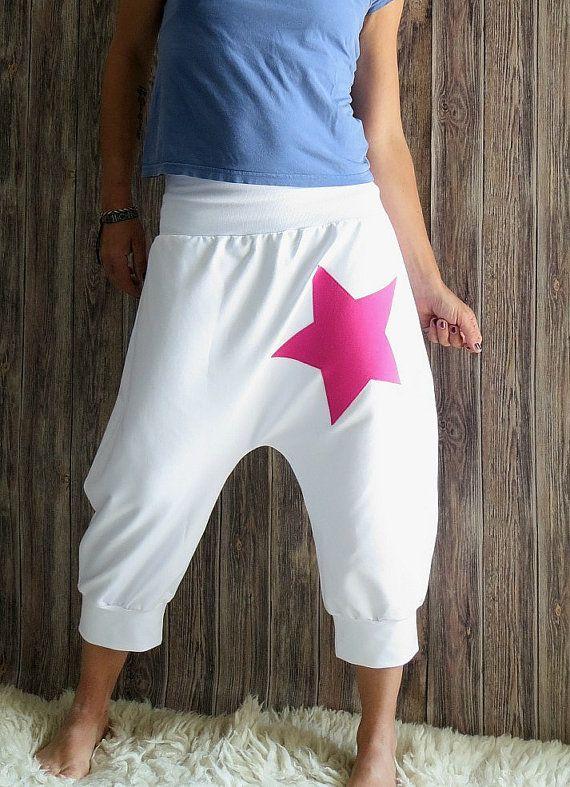 Pantalones de yoga blanco para las mujeres de la por OnniPalermo
