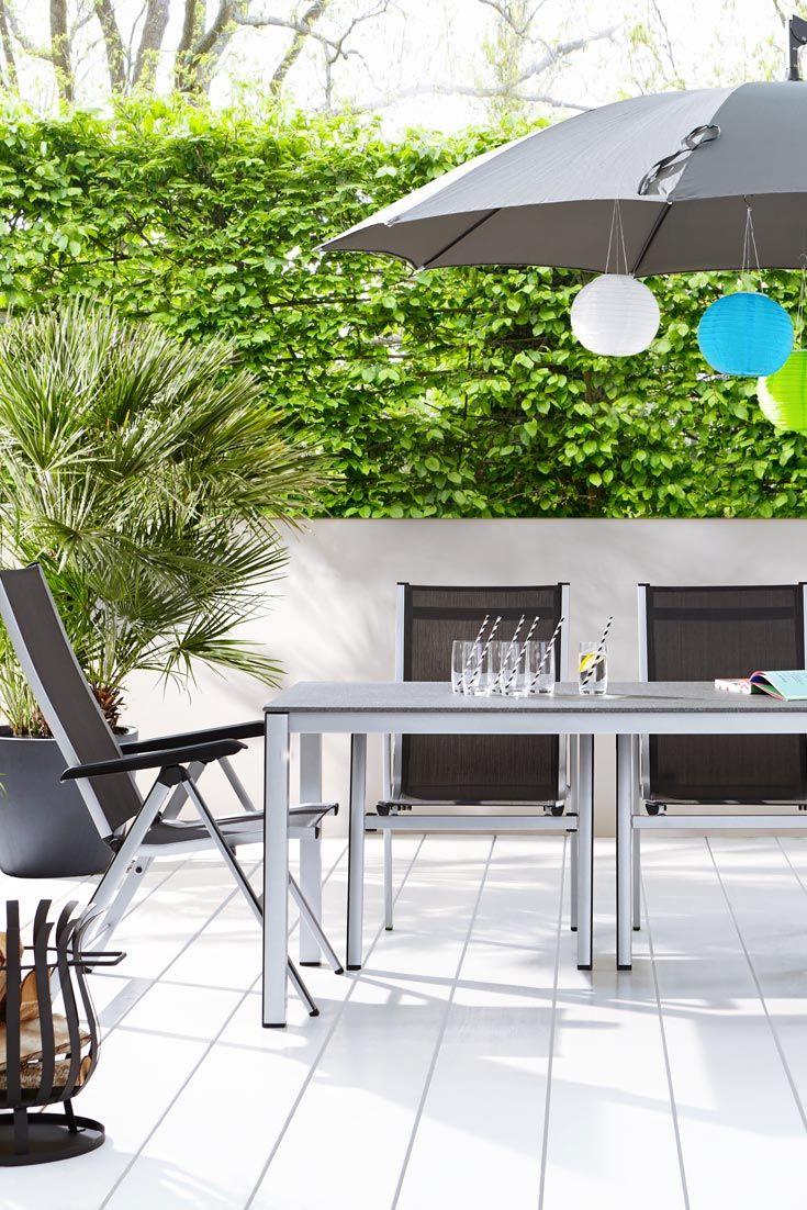 MWH Klappsessel Elements, silber Gartenmöbel, Esstisch