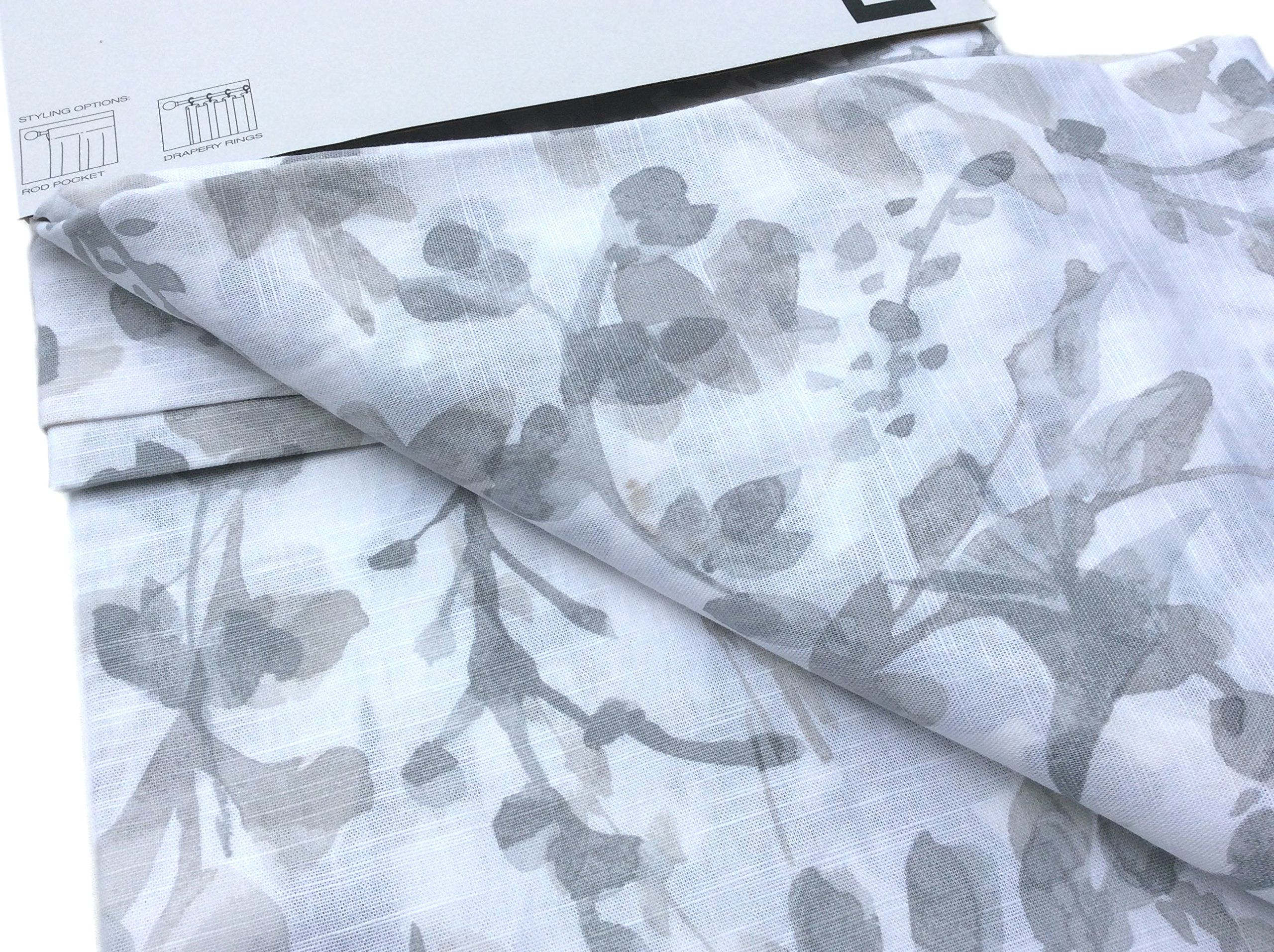 Dkny Painted Botanical Floral Road Pocket Curtains 100