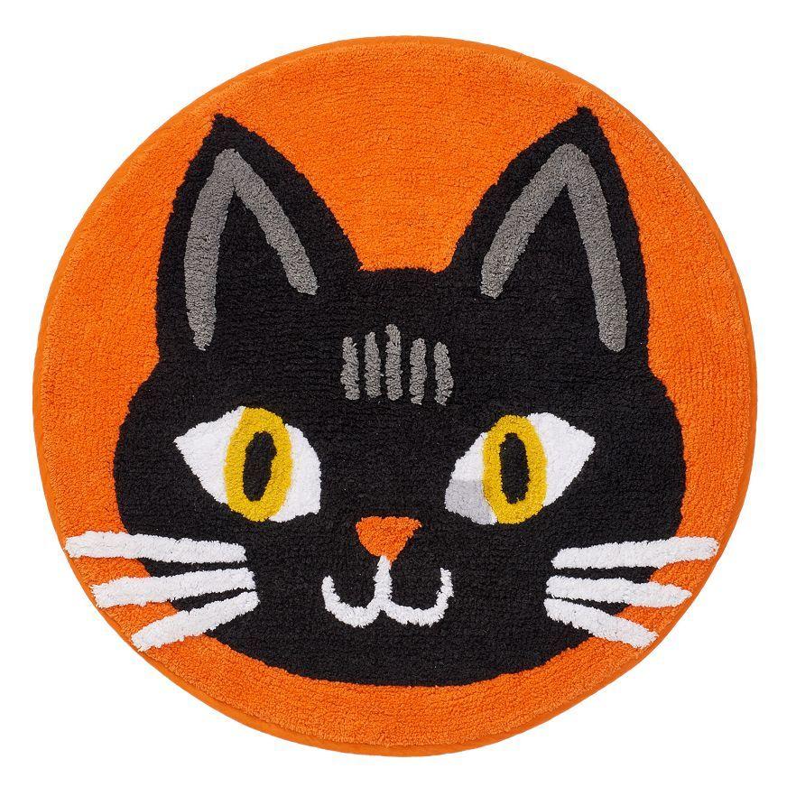 Celebrate Halloween Together Cat Rug Illustration #2 Pinterest
