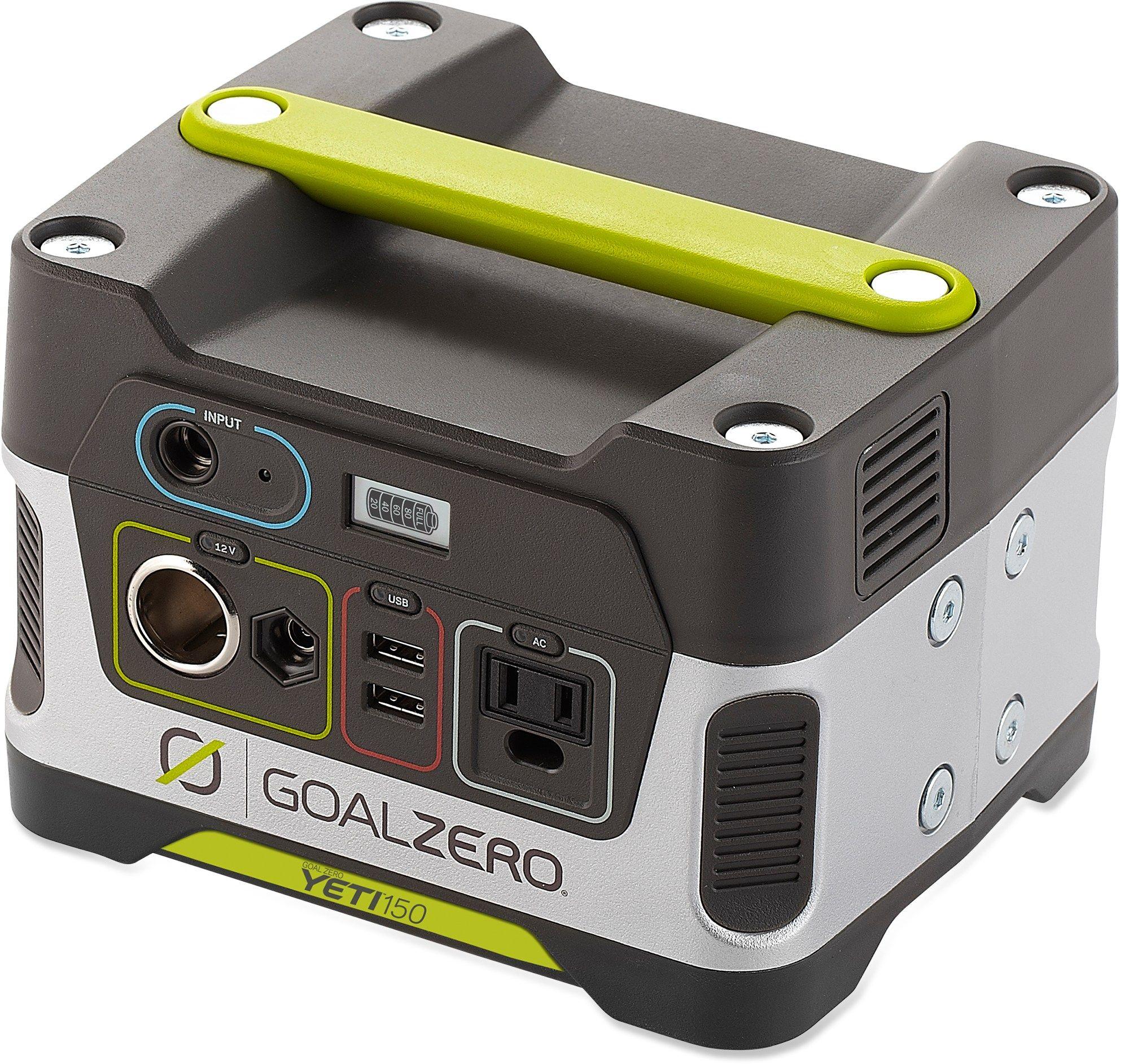 Goal Zero Yeti 150 Portable Power Generator Rei Co Op Portable Solar Generator Portable Power Generator Solar Generator