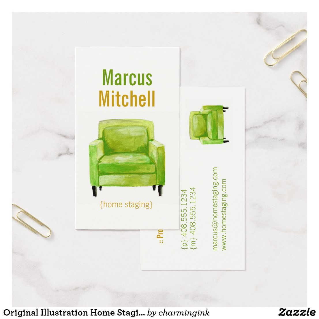 Original Illustration Home Staging Business Cards | Business cards ...