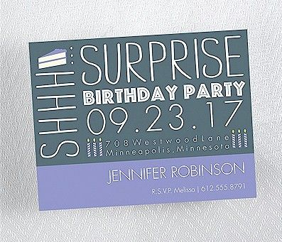 Birthday Caper in Slate Birthday Party Magnet Birthday Party